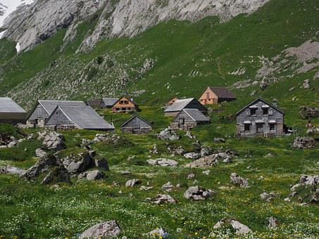 Meglisalp, Bergdorf, Houses, Alm, Alpine Village