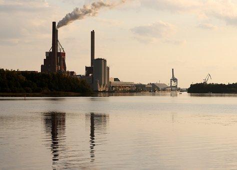 Oulu, Finland, Industry, Industrial, Sky, Clouds