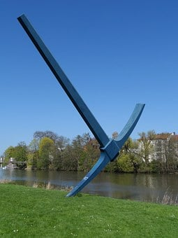 Pickaxe, Sculpture, Documenta, Kassel, Fulda Shore