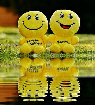Smiley, Laugh, Bank, Mirroring, Water, Funny, Emoticon