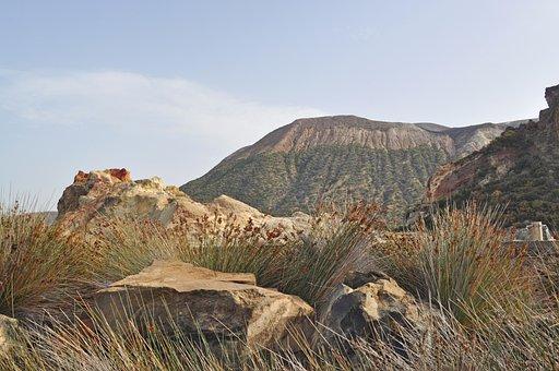 Vulcano, Aeolian Islands, Volcano, Sicily, Crater, Lava