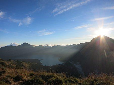Mountain, Rinjani, Segara Anak Lake, Indonesia, Lombok