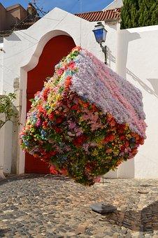 Lisbon, Art, Portugal, Artwork, Outside Art, Flowers