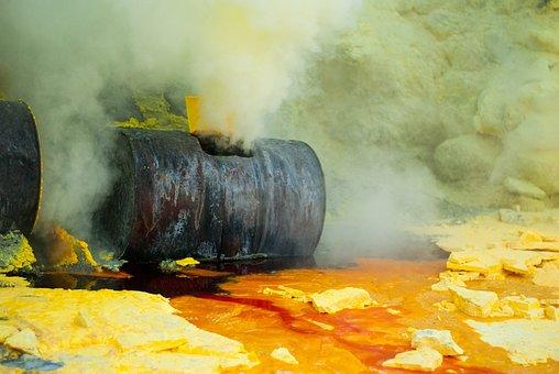 Pollution, Environment, Sulfur, Work, Volcano