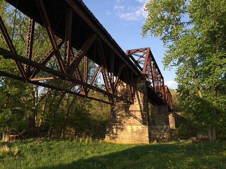 Railroad, Bridge, Railway Bridge, Structure, Metal