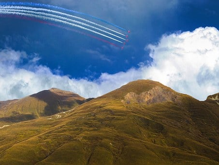 Landscape, Scenery, Moors, Red Arrows, Flying, Planes