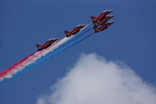 Planes, Red Arrows, Red White And Blue, Jets