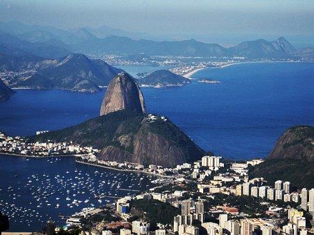 Sugarloaf, Views Of The Corcovado, Rio, Botafogo