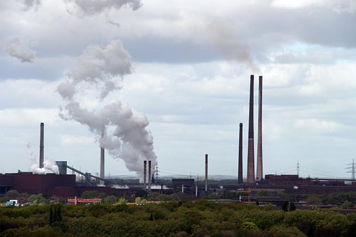 Clouds, Cloudiness, Industry, Ruhr Area, Pott, Duisburg