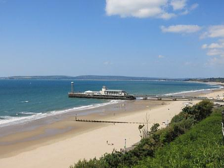 Bournemouth, Dorset, Pier, Beach, Sea, Coastline