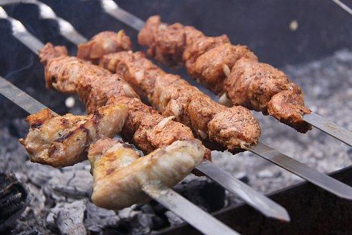 Shish Kebab, Food, Picnic, Grill, Bbq, Mangal, Skewers