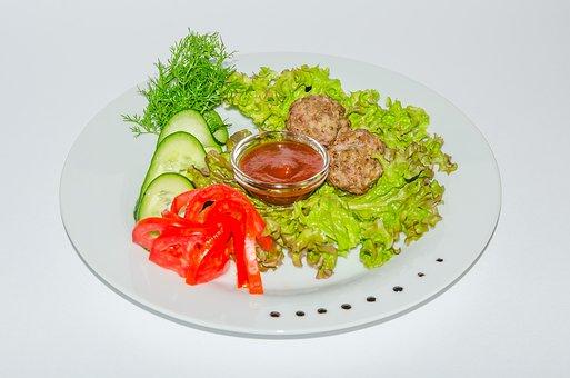Chicken, Fried, Meat, Frying, Skewers, Shish Kebab