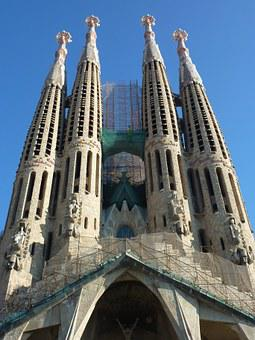 Sagrada Família, Building, Barcelona, Spain, Church