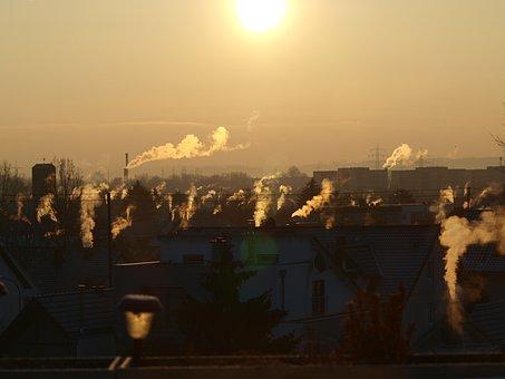 Sun, Sky, Sunset, Abendstimmung, Clouds, Panorama