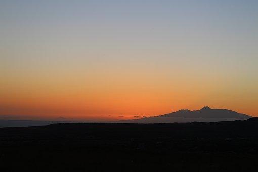 Sunset Sky, Volcano, Landscape, Sky, Pico Do Fogo