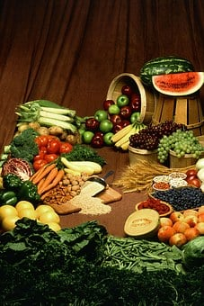 Healthy Eating, Fruits And Vegetables, Food, Table