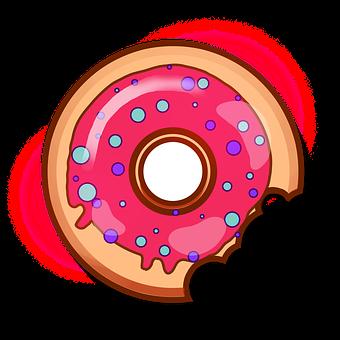 Donut, Sweets, Baking, Food, Tasty, Bun, Yummy, Icon