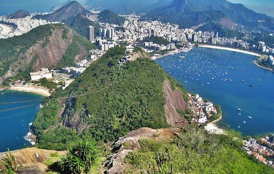 View From Sugarloaf, Urca Hill, Rio, Copacabana