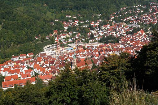 Bad Urach, Valley, Urach, Hanner Rocks, Viewpoint