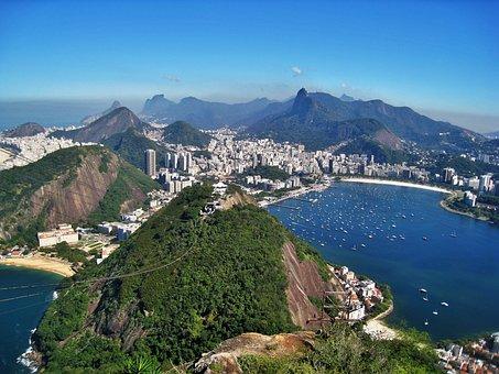 View From Sugarloaf, Views Of Corcovado, Rio De Janeiro