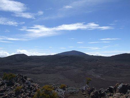 Piton Of The Furnace, Volcano, Reunion Island, Road