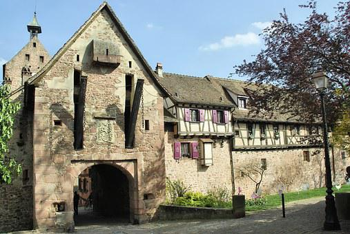 Alsace, Riquewihr, Watchtower, Drawbridge