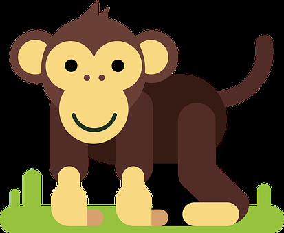 Monkey, Animal, Cartoon Character, Comic, Figure