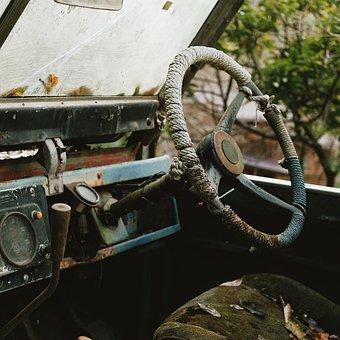 Old, Automotive, Rusty, Transport, Steel, Rust, Retro