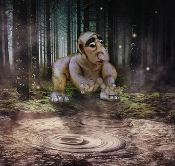 Fantasy, Troll, Forest, Mud, Figure, Gnome, Funny