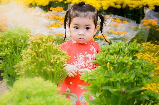 Child, Girl, Naive, Lovely, Beautiful, Festival