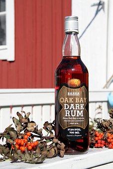 Glass, Bottle, Finnish, Economy, Rum, Barra, Oak Bay
