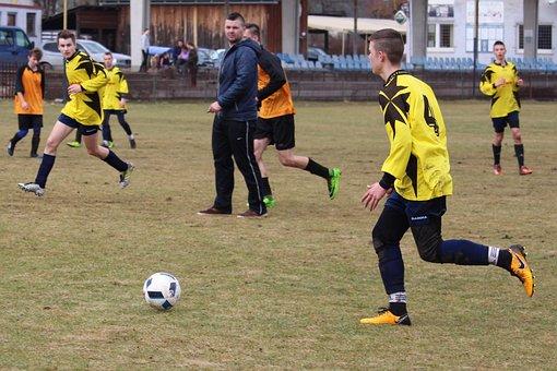 Football, Match, Youth, Fk Rajec, Course, Grass, Ball
