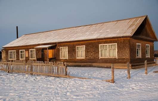 Siberia, Island Of Olkhon, Wooden House