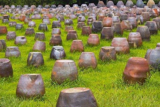 Jar, Grass, Jeju Island, Jeju-si, Earthenware, Pool