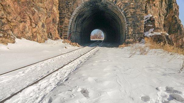 Lake Baikal, Railway, Tunnel
