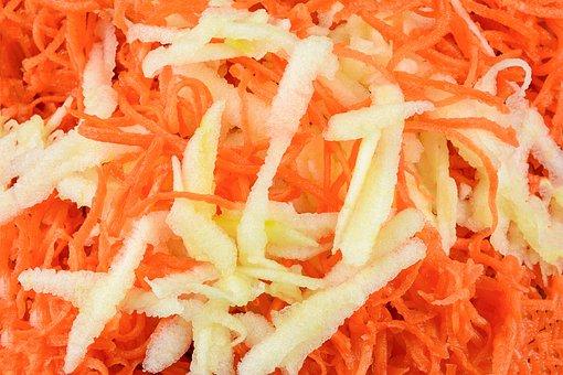 Carrot Salad, Eating, Healthy, Health, Closeup, Macro