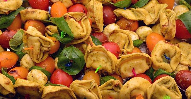 Tortellini, Vegetable Skewers, Impaled, Snack, Party