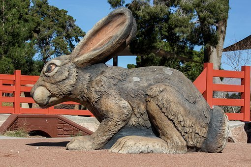 Rabbit, Nature, Animal, Statue, Larger, Than, Life