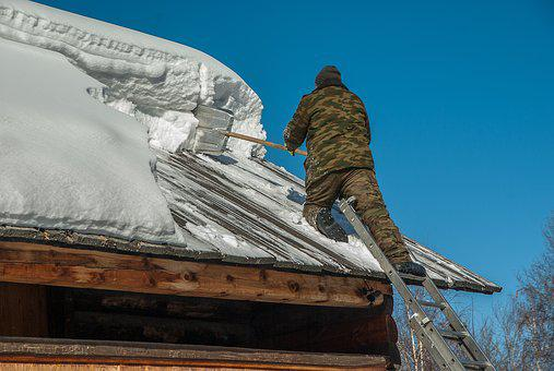 Siberia, Snow Removal, Roofing, Scale
