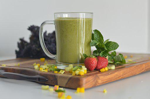 Healthy, Glass, Drink, Smoothie, Fruit