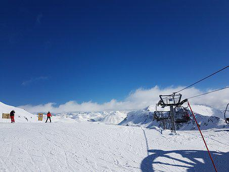 Snow, Winter, Cold, Mountain, Resort, Sport, Ski Track