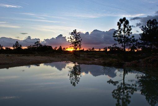 Water, Reflection, Sun Set, Lake, Nature, Sky