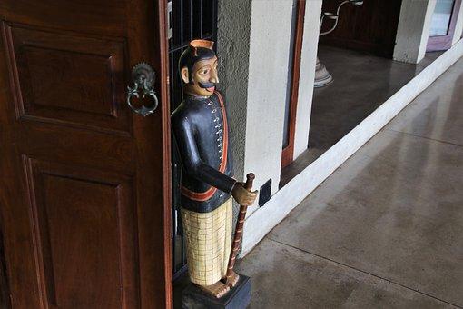 The Figurine, Wooden, One, The Door, Under The Roof