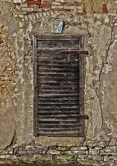 Door, Old Door, Wooden Door, Old, Wall, Facade, Stone