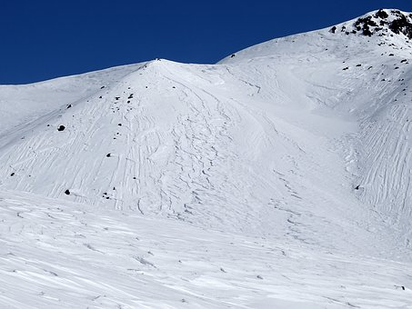 Mountains, Slope, Wind, Snow, Patterns, Winter, Frost