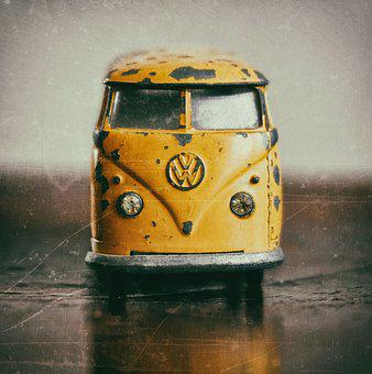 Vehicle, Transport System, A, Retro, Toy Car, Vw Bulli