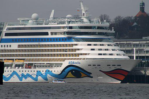 Waters, Cruise Ship, Cruise, Ship, Travel, Aida, Sea