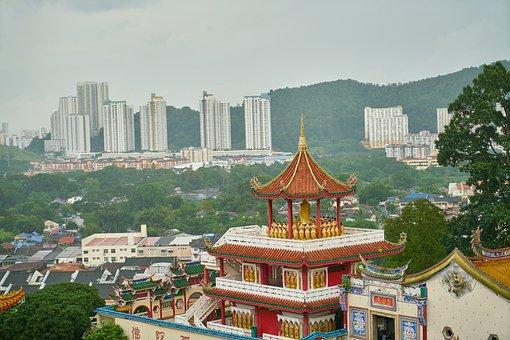 Far East, East, Asian, Malaysia, New, Old, Temple