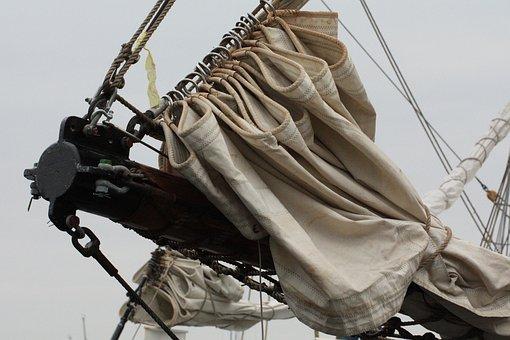 Bowsprit, Dew, Rigging, Equipment, Old, Sailing Vessel