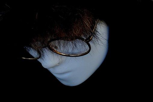 Portrait, People, Mystery, Fear, Shadow, Eye, Dark